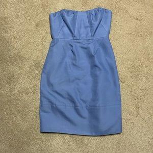 J Crew Erica Cotton Cady Dress Periwinkle Blue NEW